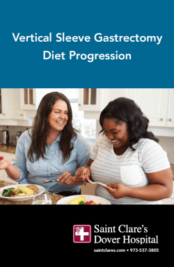 Vertical Sleeve Gastrectomy Diet Progression Book